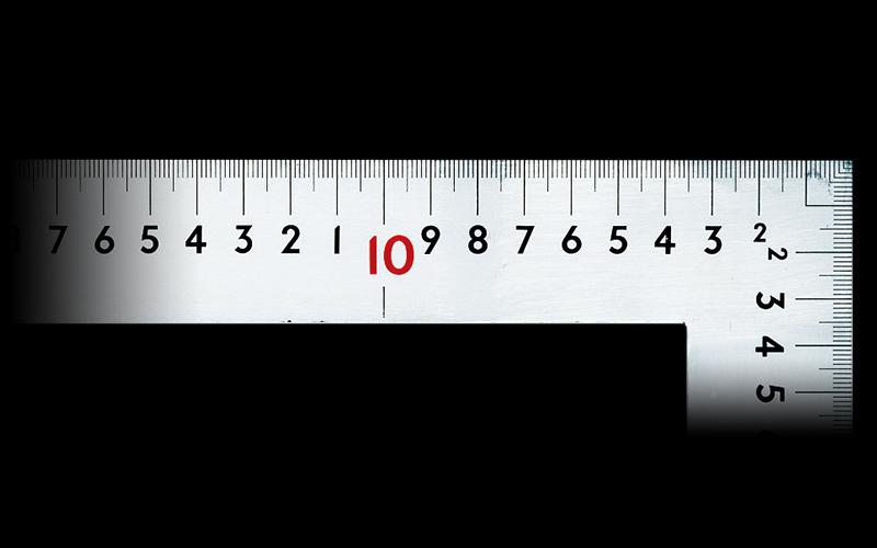 曲尺大金普及型  シルバー  1m×60㎝  表裏同目  赤数字入