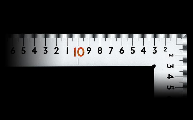 曲尺中金普及型  シルバー  60×30㎝  表裏同目  赤数字入