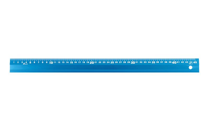 アルミ直尺  アル助  45㎝  シャイニングブルー