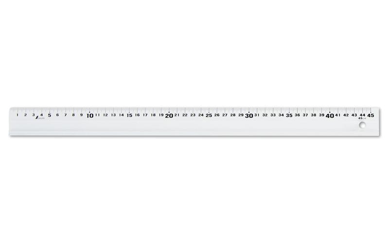 アルミ直尺  アル助  45㎝  ホワイト