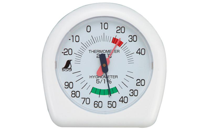 温湿度計  P-2  チャーミー  12㎝  ホワイト