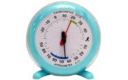 温湿度計  Q-2  丸型  10㎝  ライトブルー