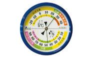 温湿度計  F-4M  生活管理  丸型  10㎝  ブルー