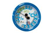温湿度計  F-2S  環境管理  丸型  6.5㎝  アクアブルー