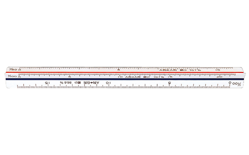三角スケール  C-15  15㎝  縮小コピー用