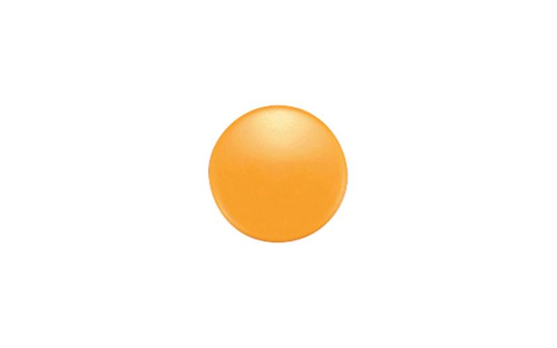 強力カラーマグネット  ヨーク付  φ20  黄  6ヶ入  ビニ袋入