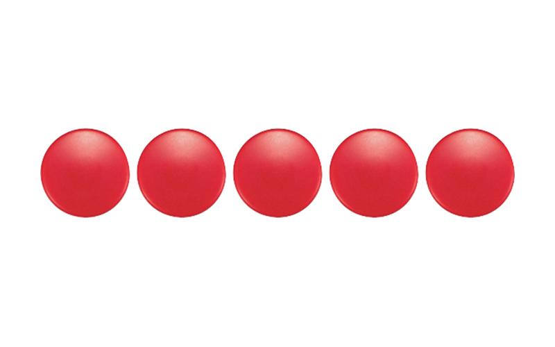 カラーマグネット  φ20  赤  5ヶ入