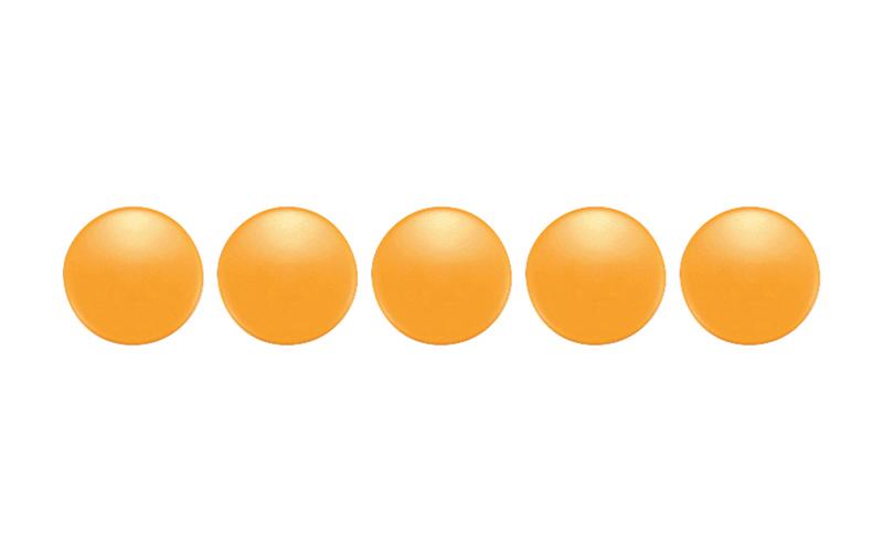 カラーマグネット  φ20  黄  5ヶ入