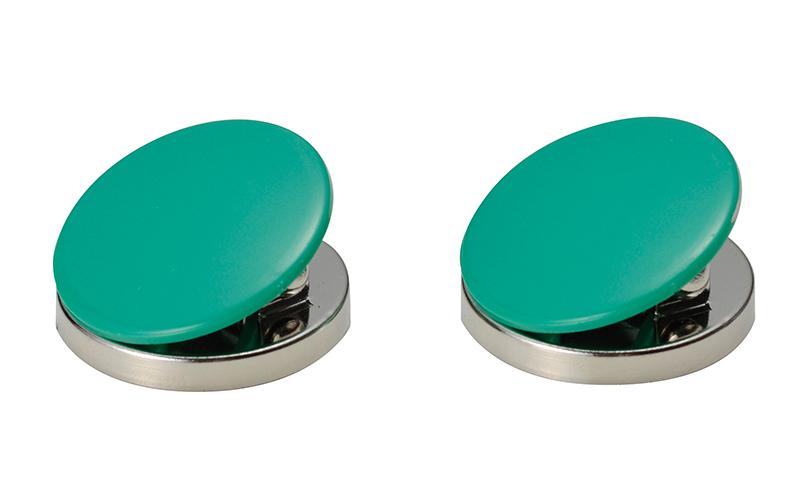 マグクリップ  丸型  A  緑  2ヶ入