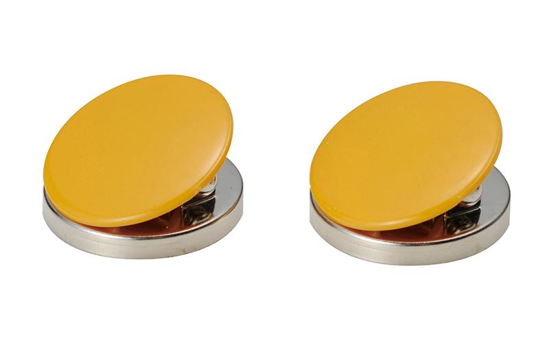 マグクリップ  丸型  A  黄  2ヶ入