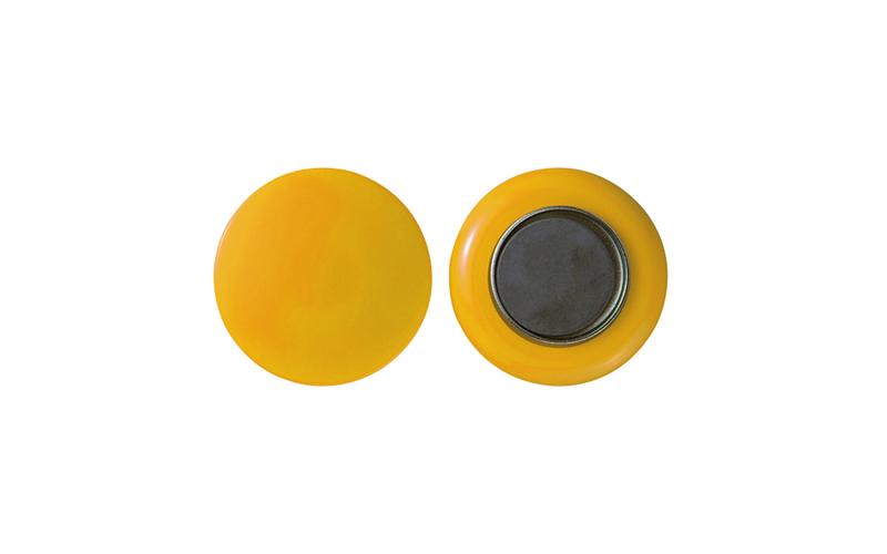 強力カラーマグネット  ヨーク付  φ50  黄  2ヶ入