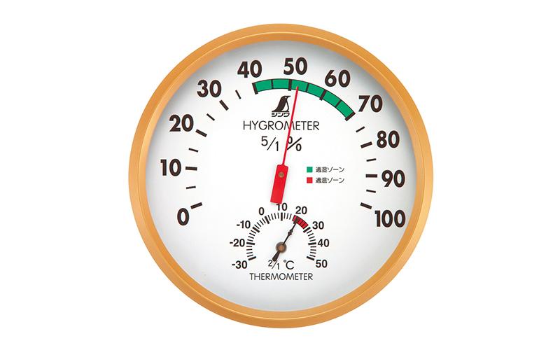 温湿度計  G  丸型  15㎝