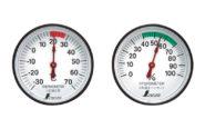 温度計・湿度計セット  ST-4  丸型  4.5㎝