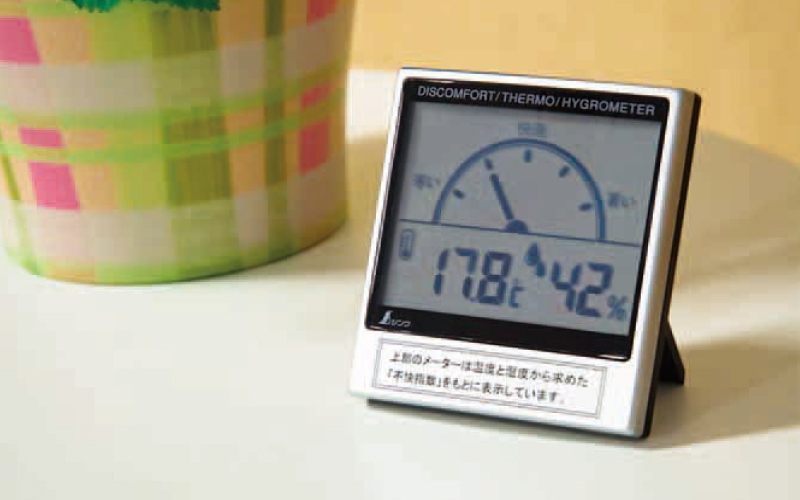 デジタル温湿度計  C  不快指数メーター