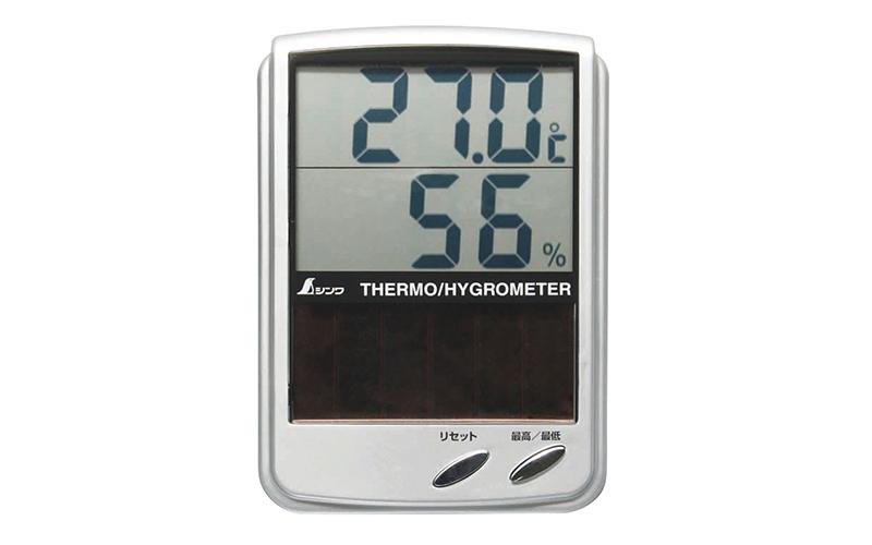 デジタル温湿度計  B  最高・最低  ソーラーパネル