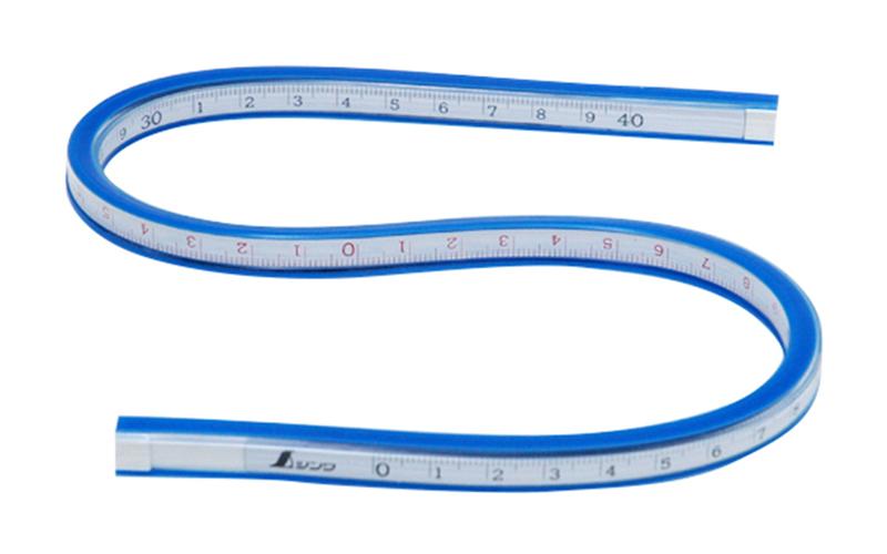 自在曲線定規  40㎝  目盛付