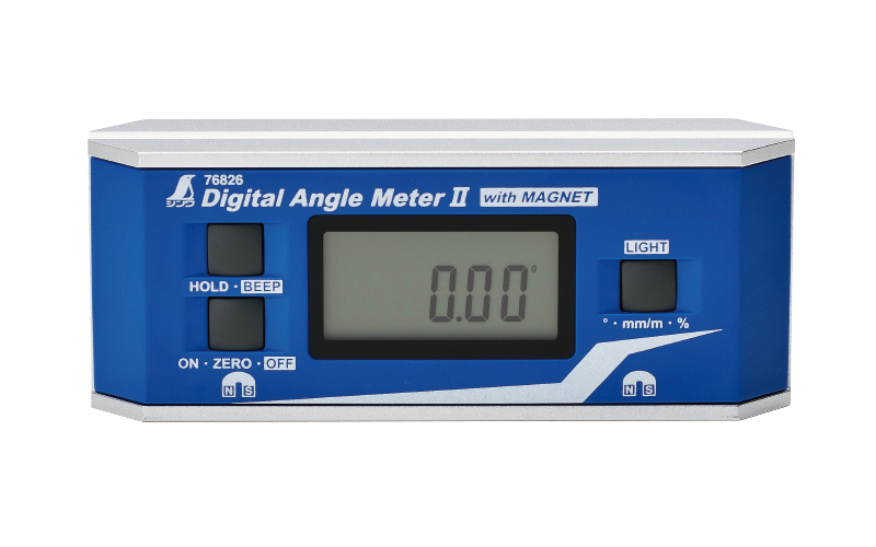 デジタルアングルメーター  Ⅱ  防塵防水  マグネット付
