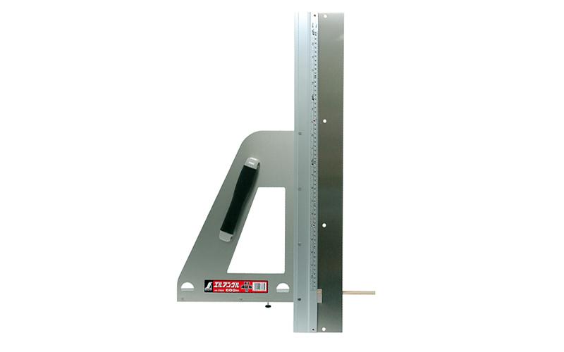 丸ノコガイド定規  エルアングル  60㎝  併用目盛  補助板付