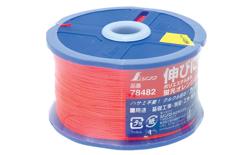 ポリエステル水糸  リール巻  太  0.8㎜  270m  蛍光オレンジ