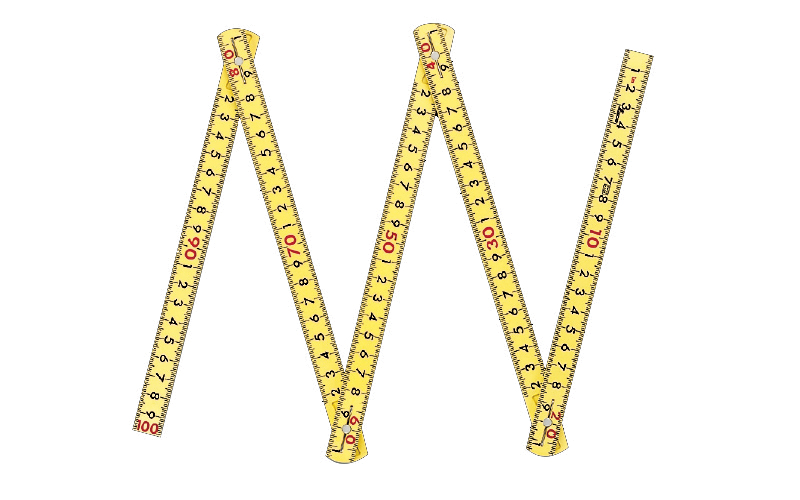 ファイバー折尺  5折  1m  ㎝表示