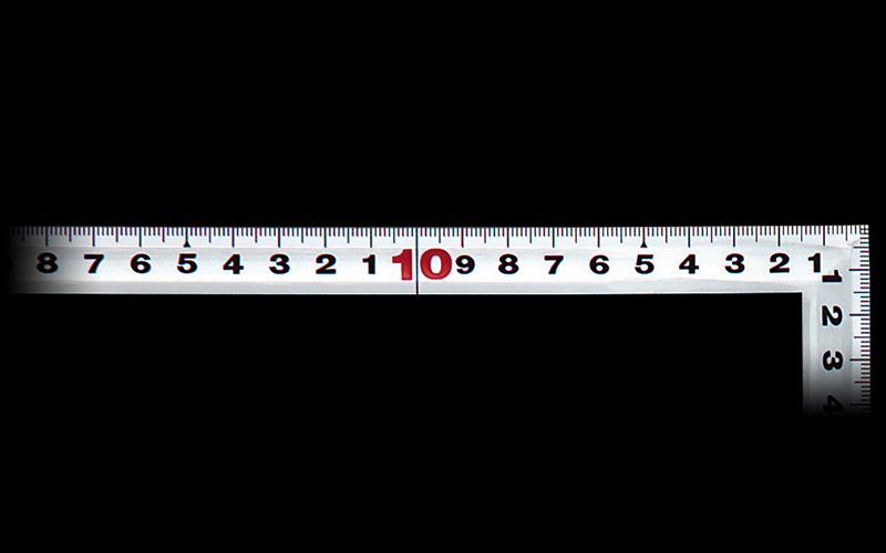 曲尺角厚  シルバー  50㎝/1尺6寸  併用目盛  日本一