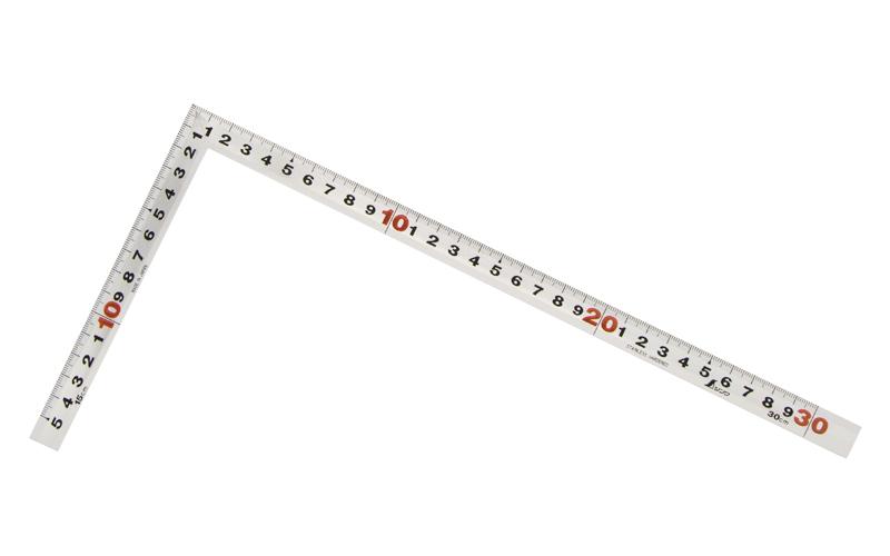 曲尺角厚  シルバー  1尺/30㎝  併用目盛