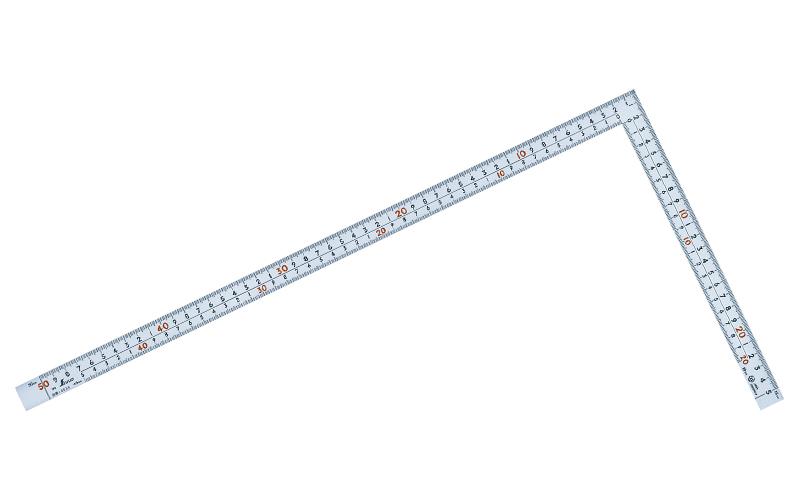曲尺広ピタ  シルバー  50㎝  表裏同目  8段目盛  JIS