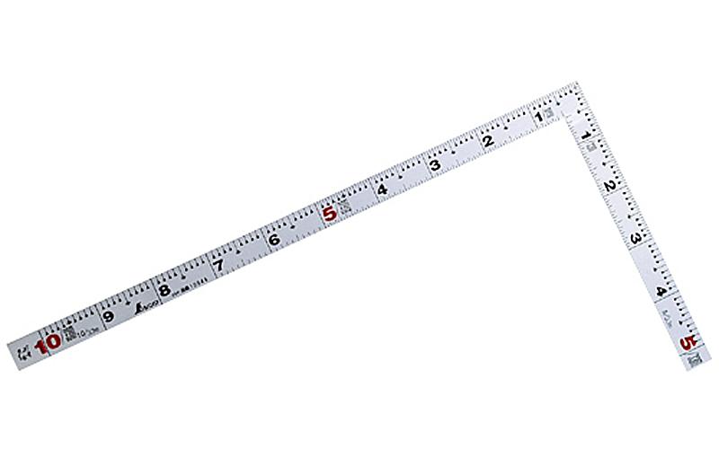 曲尺平ぴた  シルバー  1尺/30㎝併用目盛