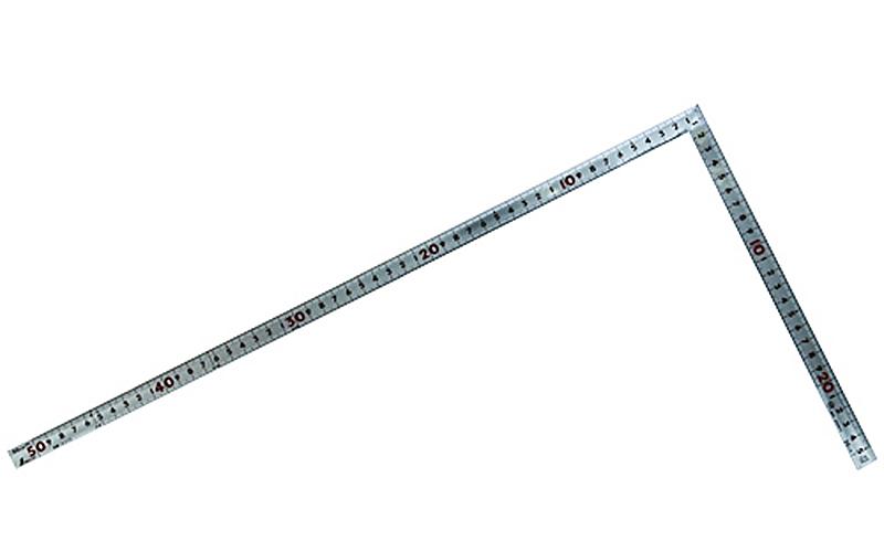 曲尺角厚  シルバー  50㎝  表裏同目  重宝  JIS