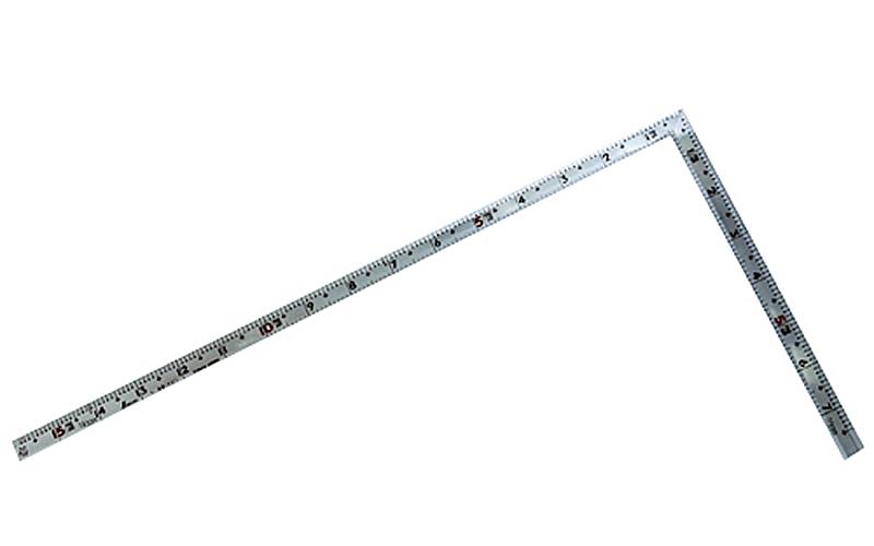 曲尺角厚  シルバー  1尺5寸  裏面角目  重宝