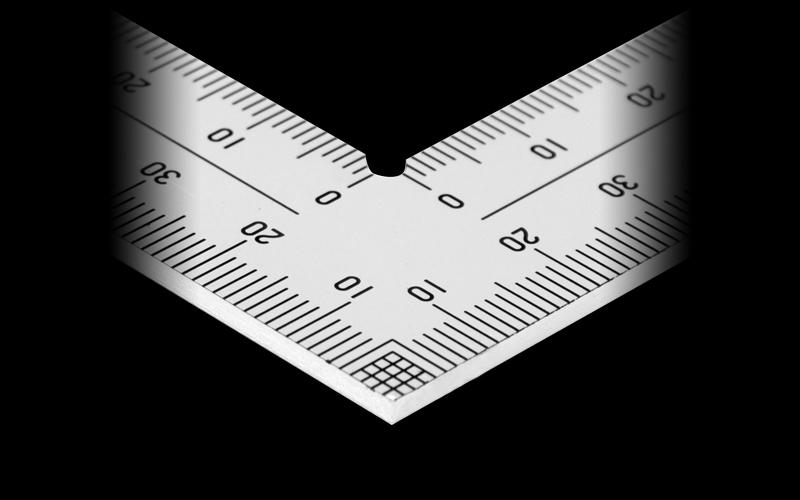 曲尺厚手広巾  シルバー  30㎝表裏同目  8段目盛  JIS