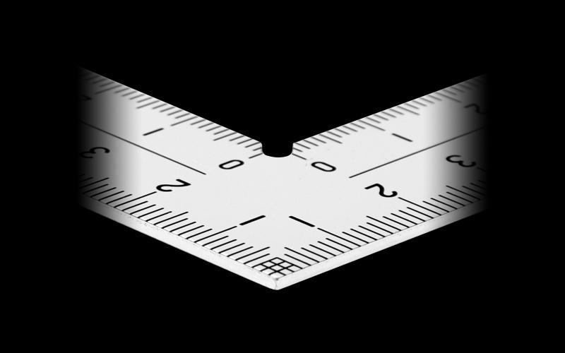 曲尺厚手広巾  シルバー  15㎝表裏同目  8段目盛  ㎝表示
