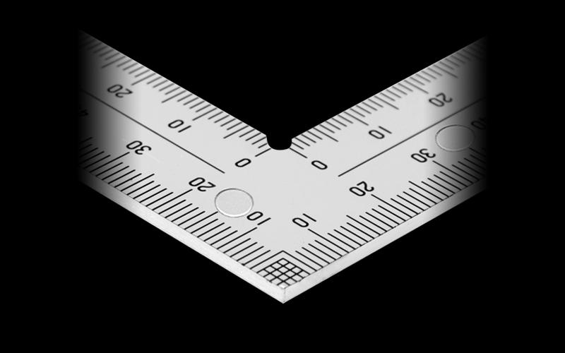 曲尺厚手広巾  シルバー  30㎝  表裏同目8段目盛マグネット付JIS