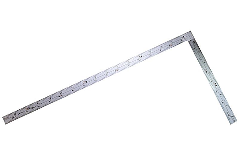 曲尺広ピタ  シルバー  1尺6寸表裏同目  内目盛端面基点目盛