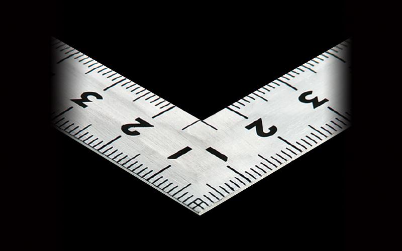 曲尺同厚  シルバー  50㎝/1尺6寸  併用目盛  名作