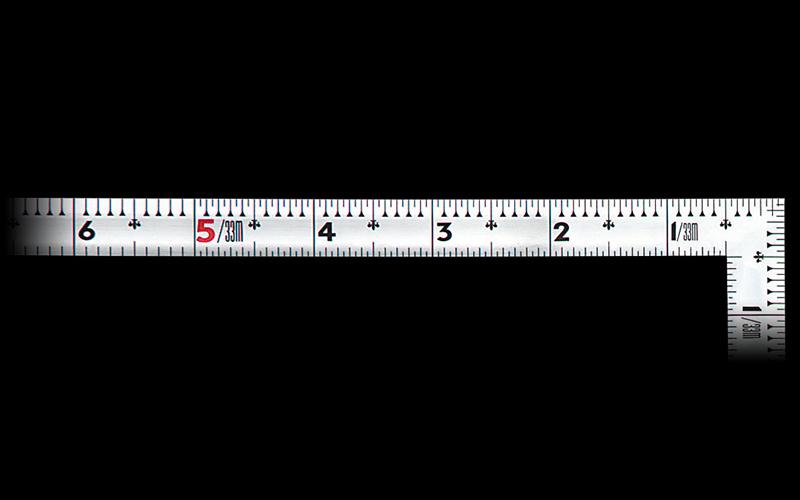 曲尺同厚  シルバー  1尺5寸  表裏同目  名作