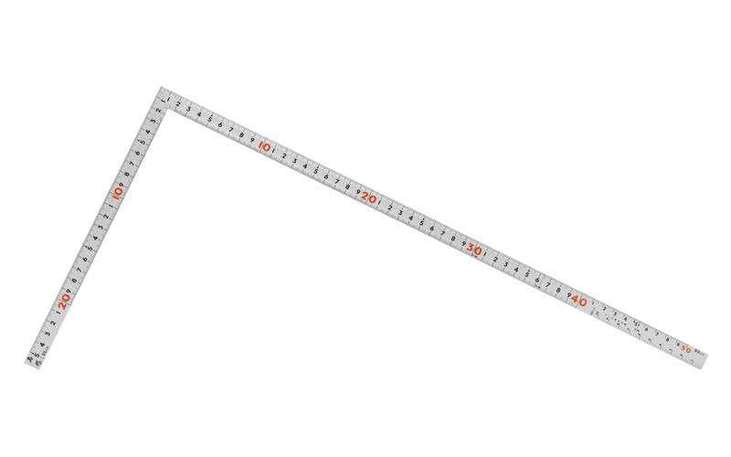 曲尺同厚  シルバー  1尺5寸/50㎝  併用目盛  名作
