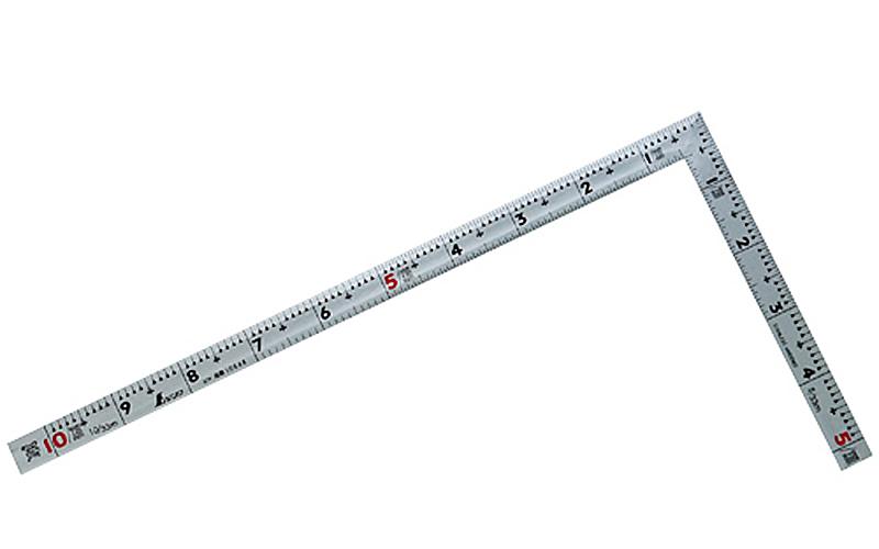 曲尺同厚  シルバー  1尺  表裏同目  名作