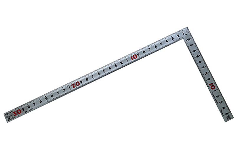 曲尺同厚  シルバー  30㎝  裏面角目  名作  JIS