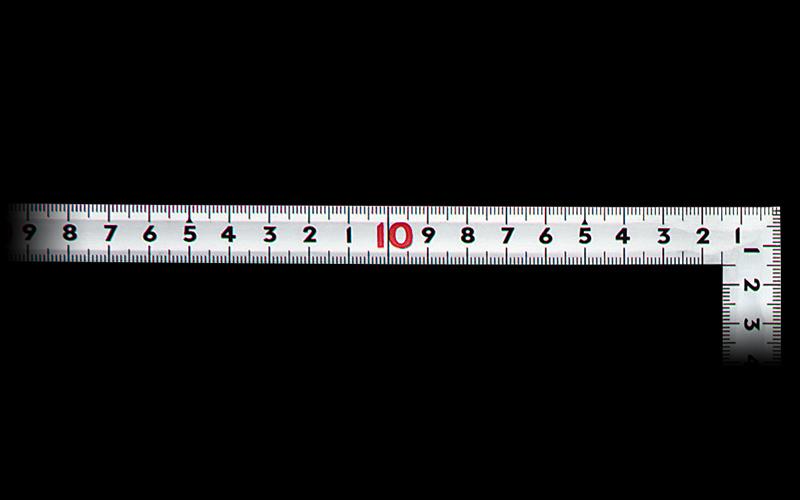 曲尺同厚  シルバー  50㎝  裏面角目  名作  JIS