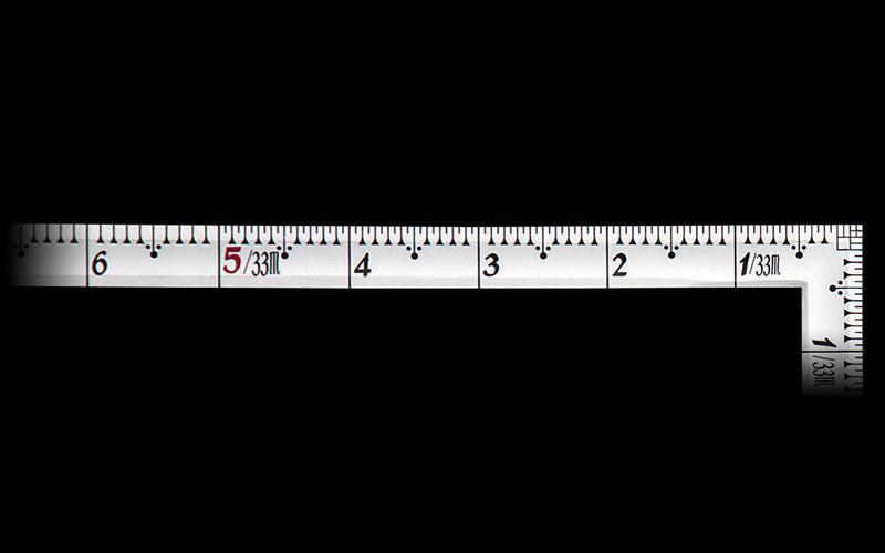 曲尺高級角薄  シルバー  1尺5寸  裏面角目  匠甚五郎