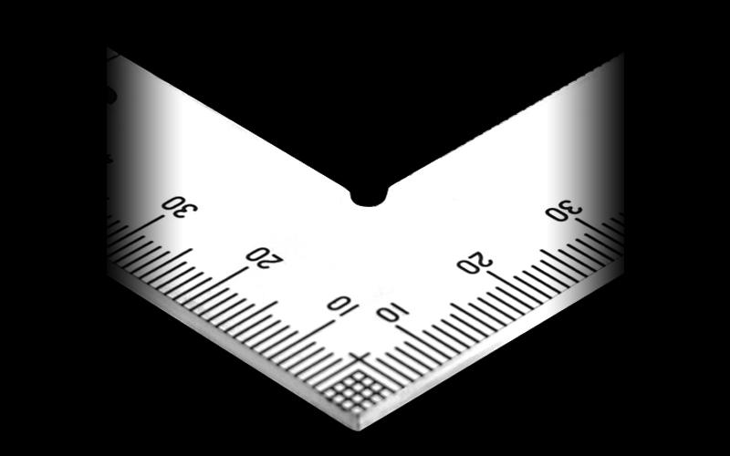 曲尺厚手広巾  シルバー  50㎝  表裏同目  4段目盛  JIS