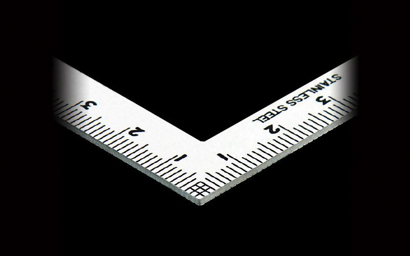 曲尺小型  三寸法師  ステン  10×5㎝  表裏同目