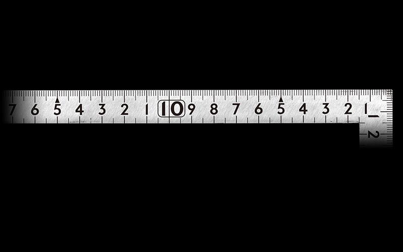 曲尺小型  平  ステン  30×15㎝  表裏同目
