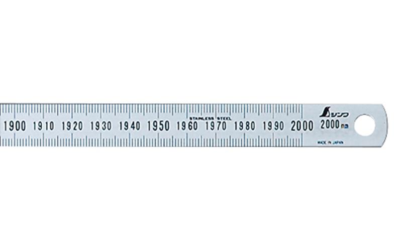 細巾直尺  シルバー  2m