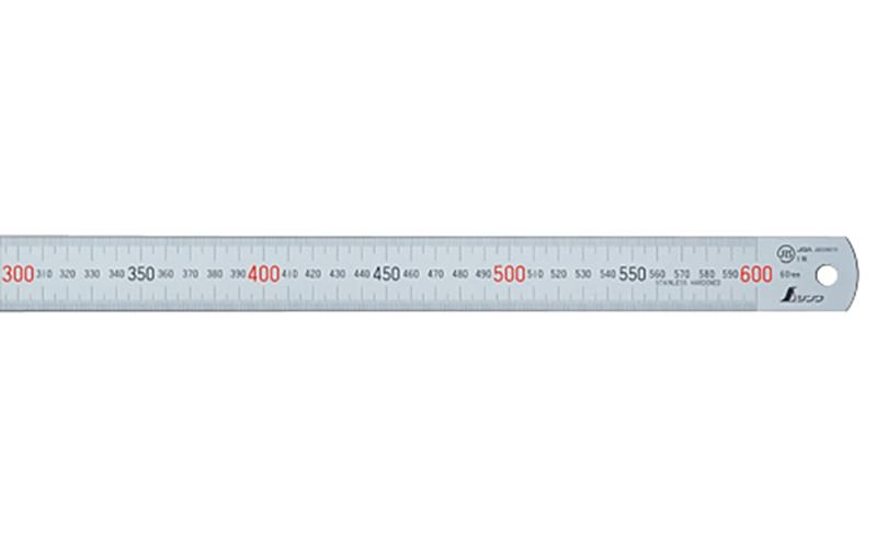 直尺  ステン  60㎝  赤数字入  JIS