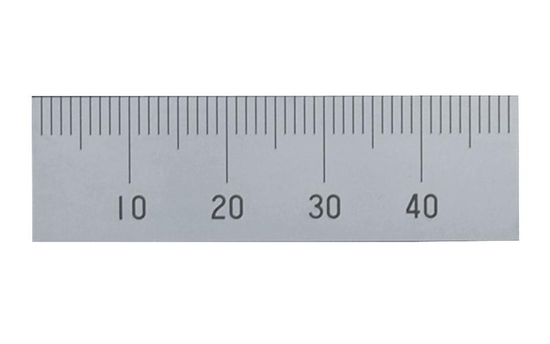マシンスケール  50㎜  上段左基点目盛  穴なし