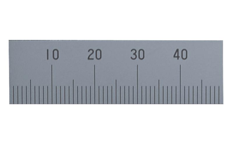 マシンスケール  50㎜  下段左基点目盛  穴なし