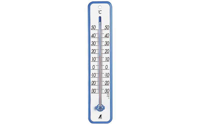 温度計  プラスチック製  30㎝ブルー