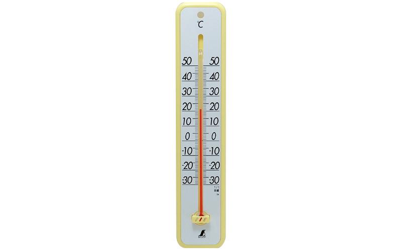 温度計  プラスチック製  30㎝  イエロー